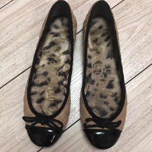 Sam Edelman Calypso beige and black ballet flat 6